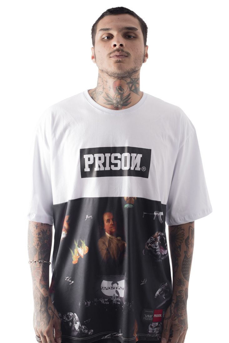Camiseta Prison Exclusive Rap Branca