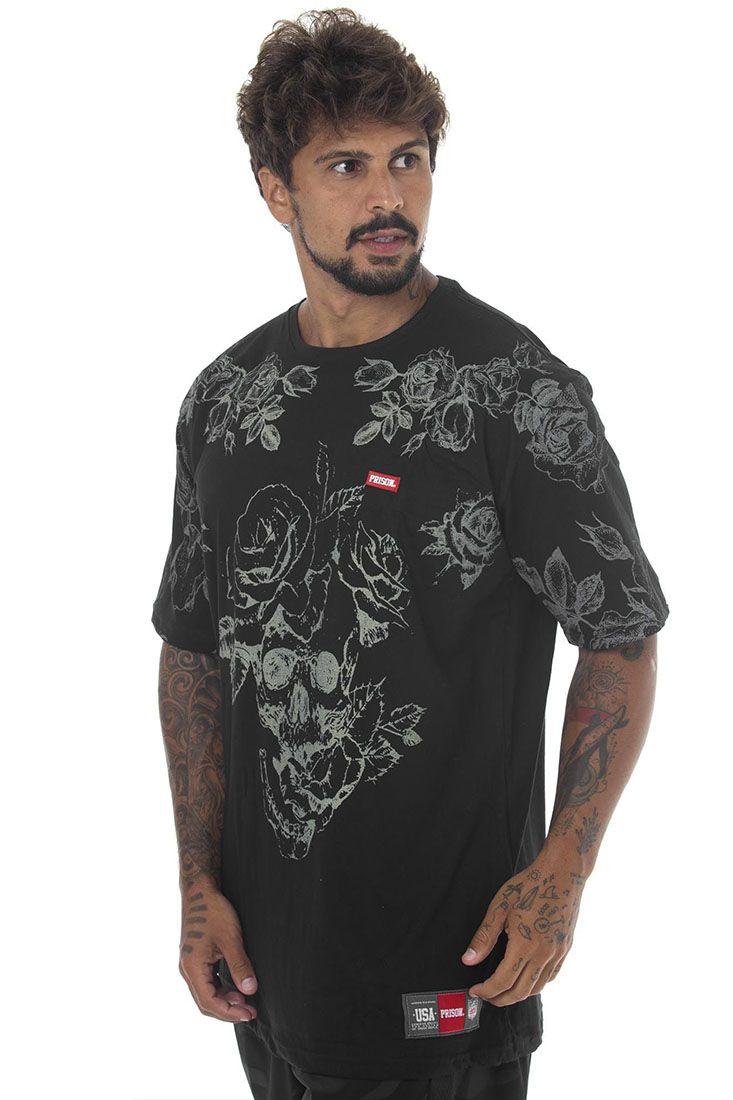 Camiseta Prison Floral Off Flower Preta