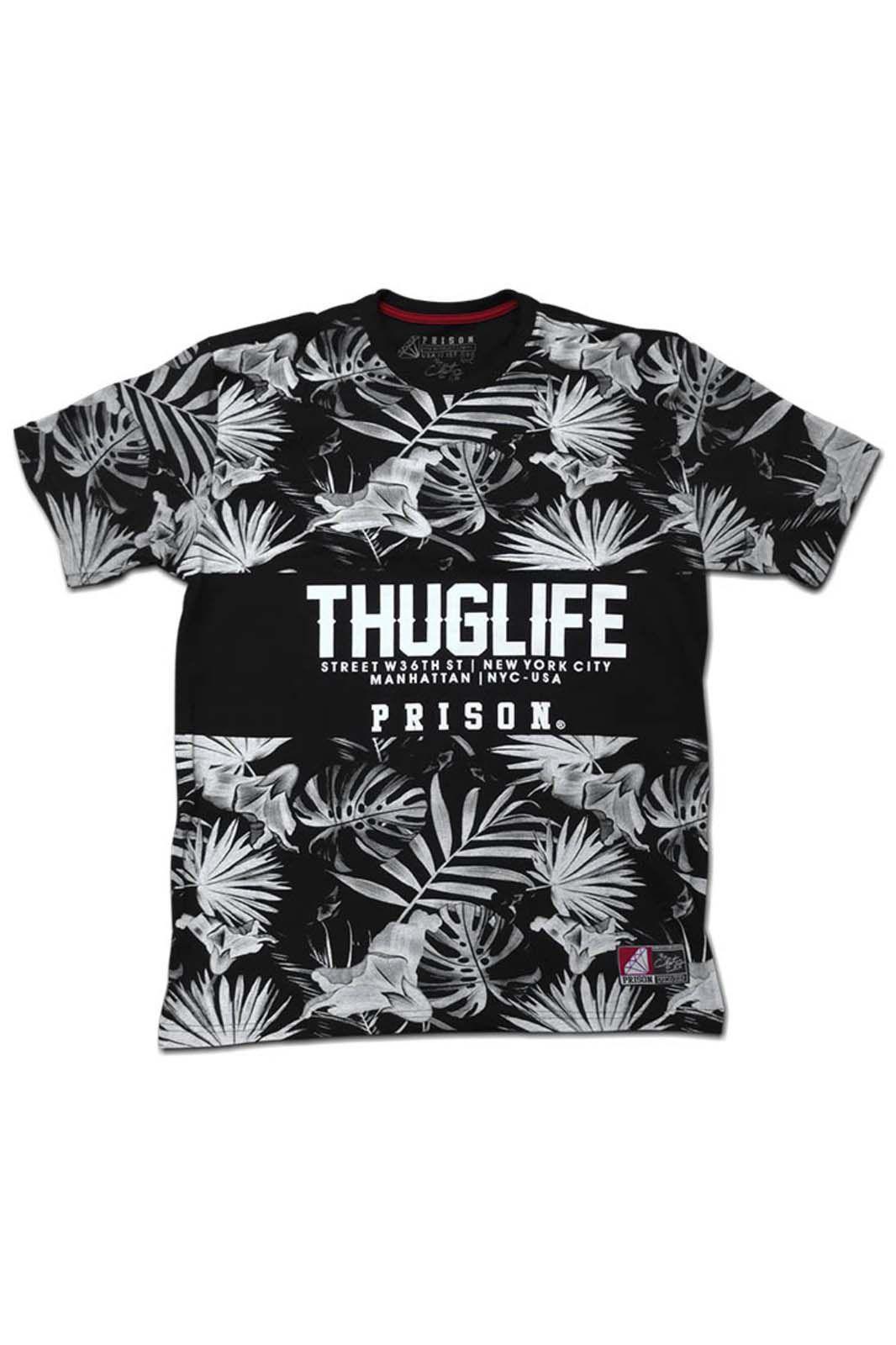 Camiseta Prison Floral ThuglifePreta