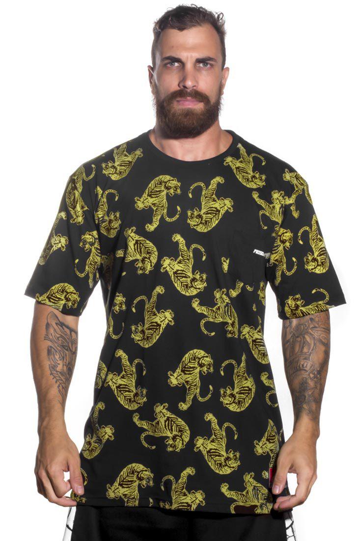 Camiseta Prison golden tiger Preta