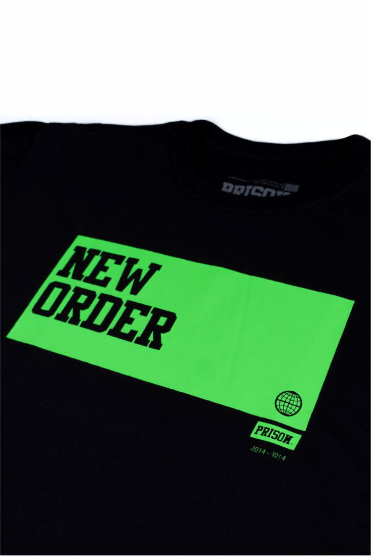 Camiseta Prison Green New Order Preta