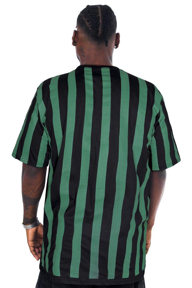 Camiseta Prison Green Stripes