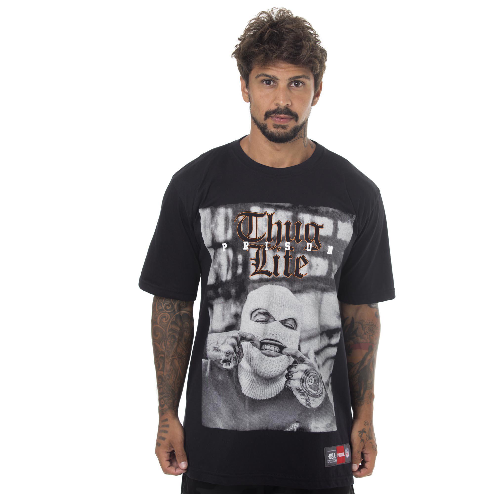 Camiseta Prison Grillz Rapper Preto
