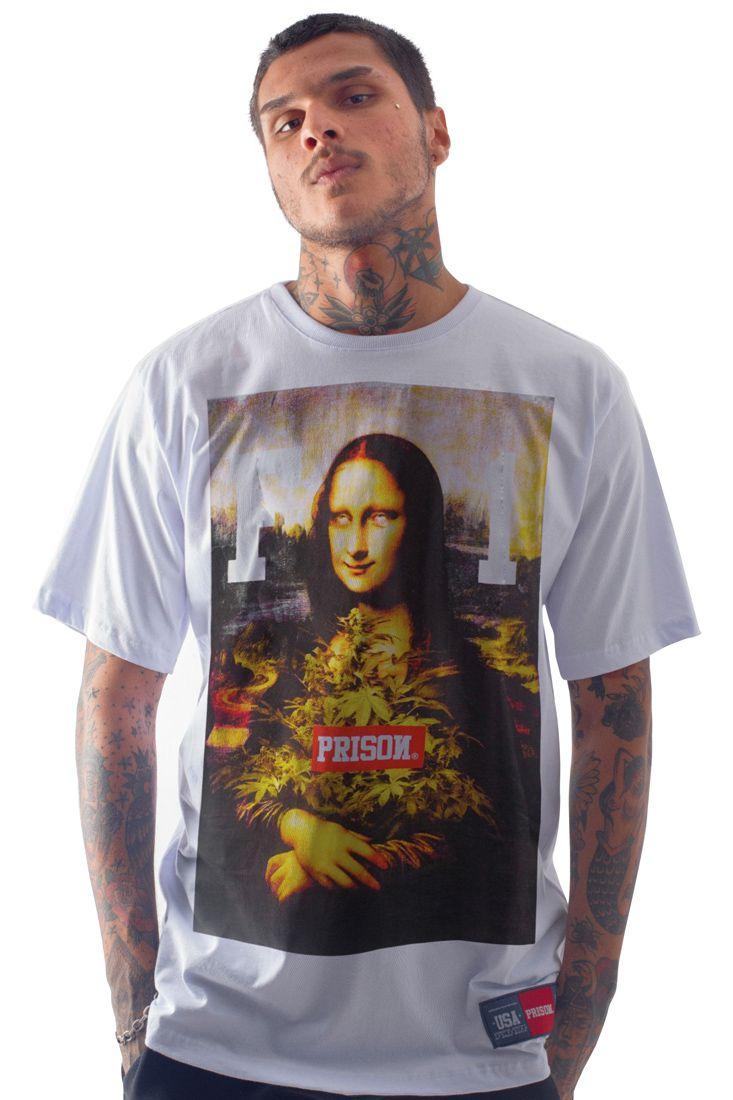 Camiseta Prison High Monalisa Branca