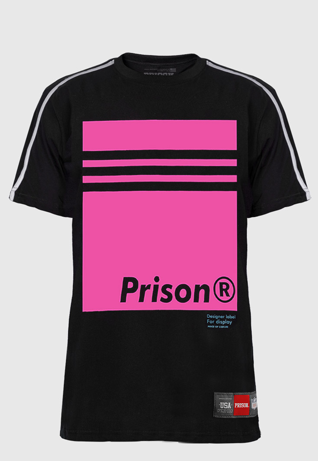 Camiseta Raglan Prison Hype Pink