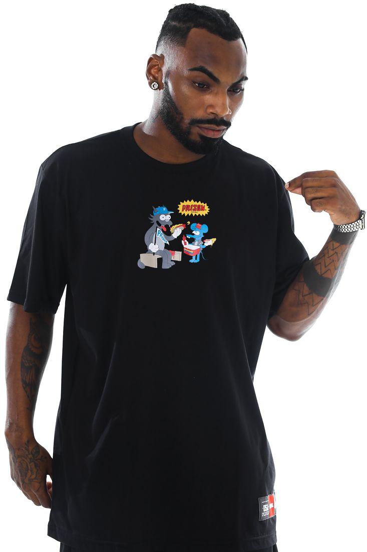 Camiseta Prison Itchy & Scratchy Preta