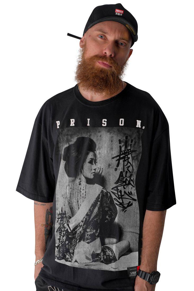 Camiseta Prison Japan Graffiti Preta