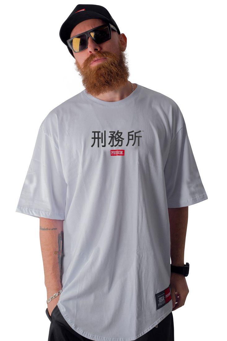 Camiseta Prison Japan Street Longline Branca