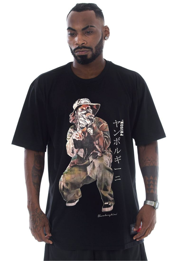 Camiseta Prison Asap Rocky Live Preta