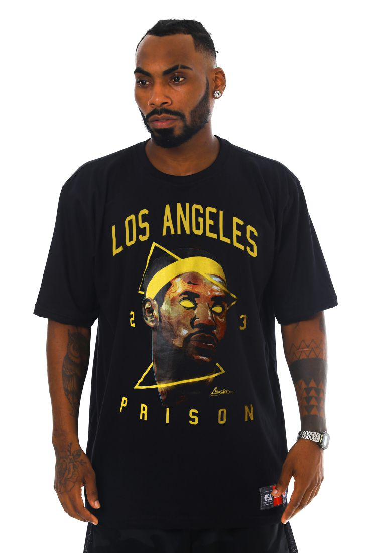 Camiseta Prison King James Preta
