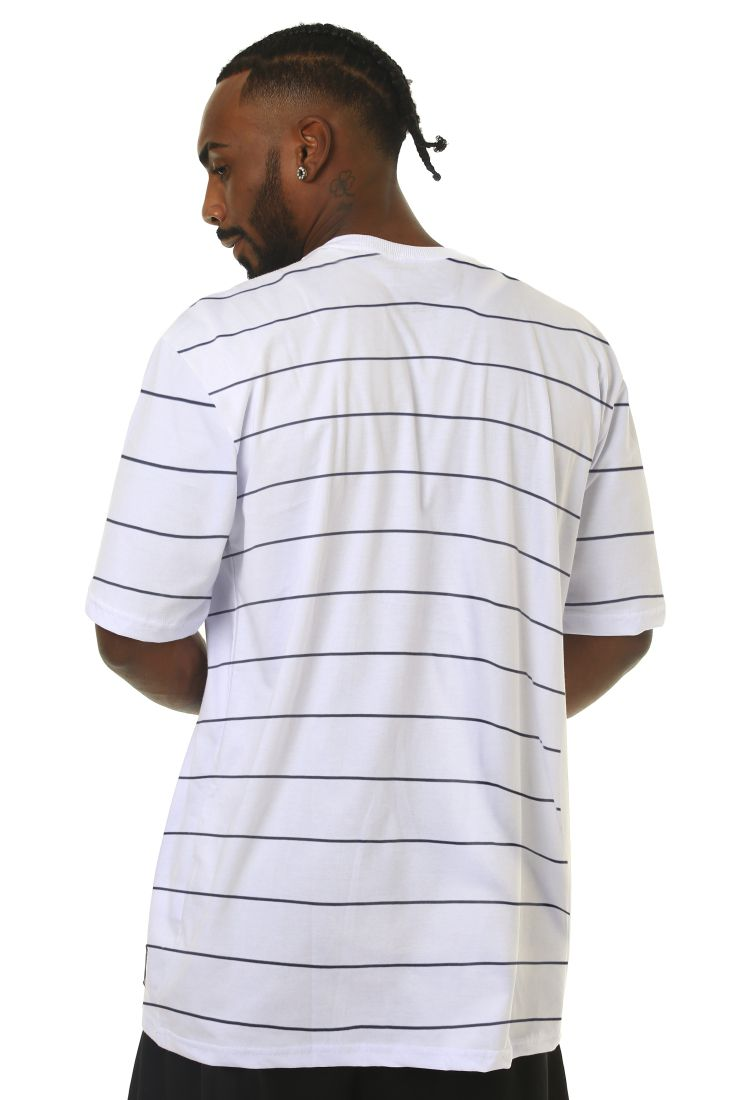 Camiseta Prison Listrada Basic Stripes Branca