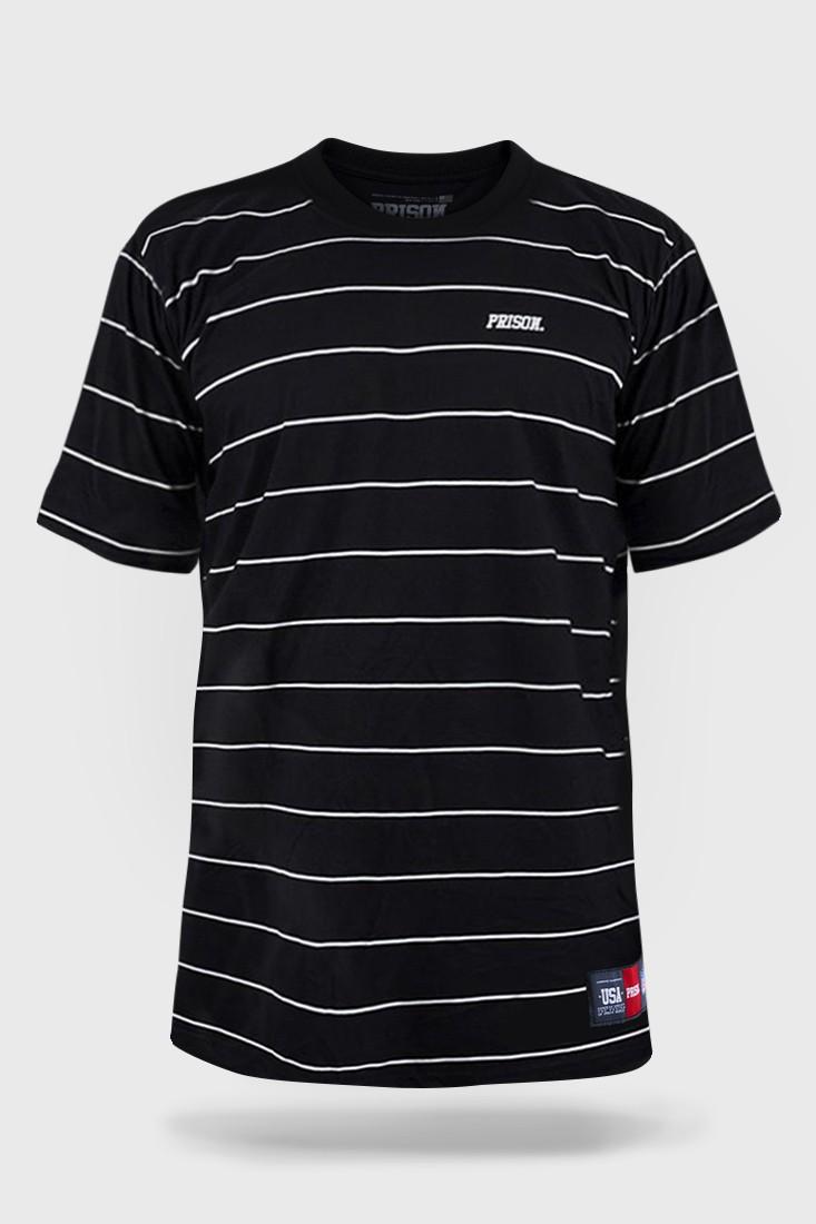 Camiseta Prison Listrada Basic Stripes Preta