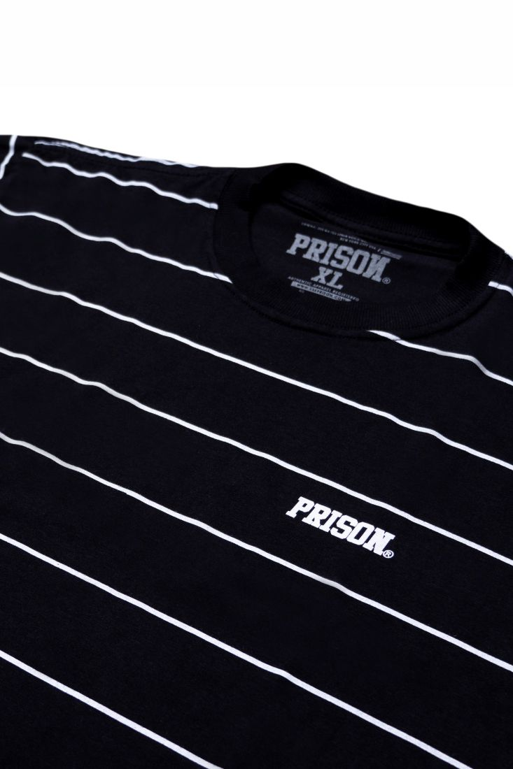 Camiseta Prison Listrada Basic Stripes Preta