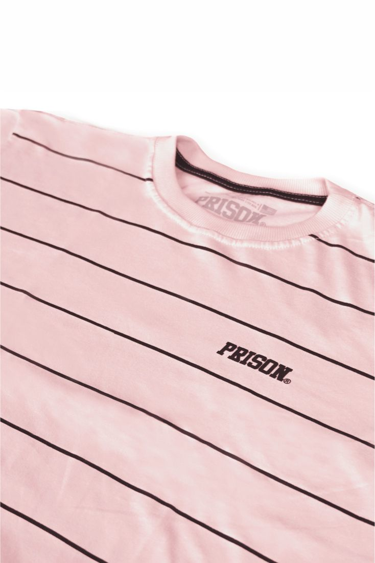 Camiseta Prison Listrada Basic Stripes Rosa
