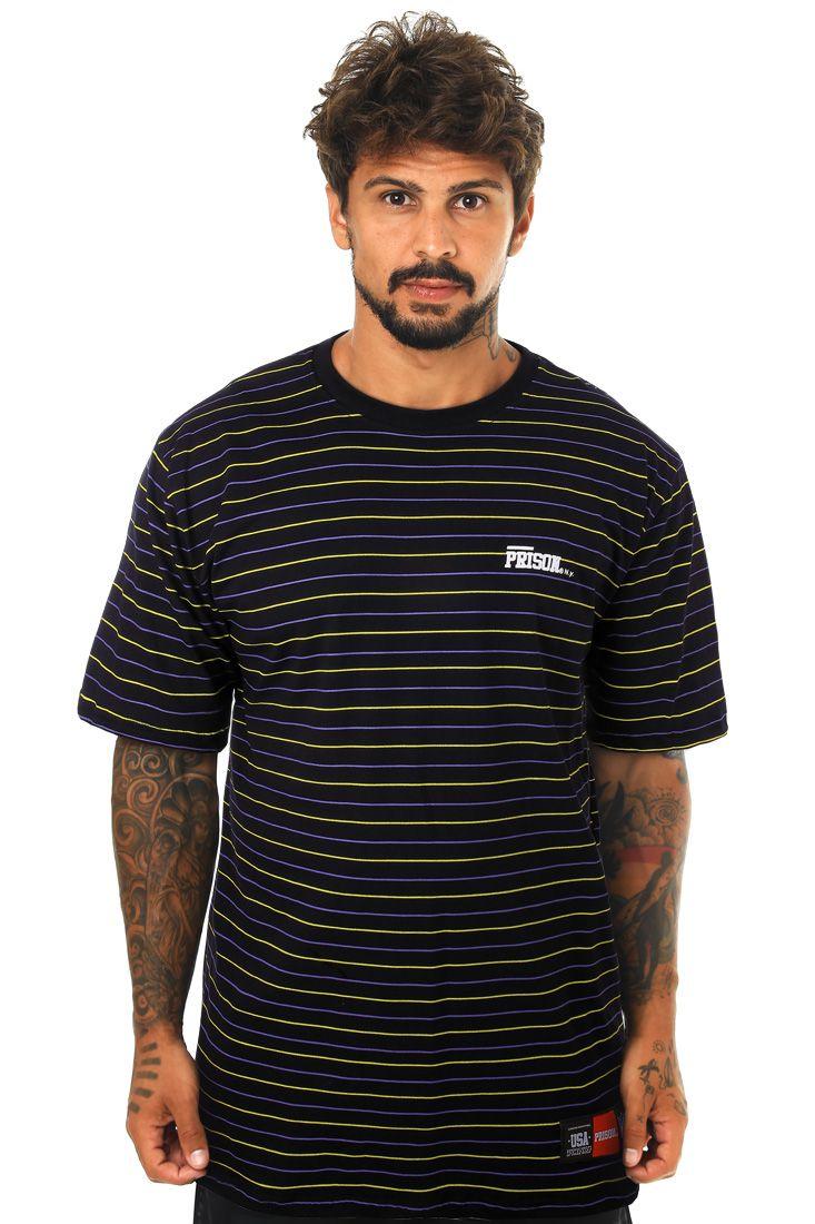 Camiseta Prison Listrada Black Jersey