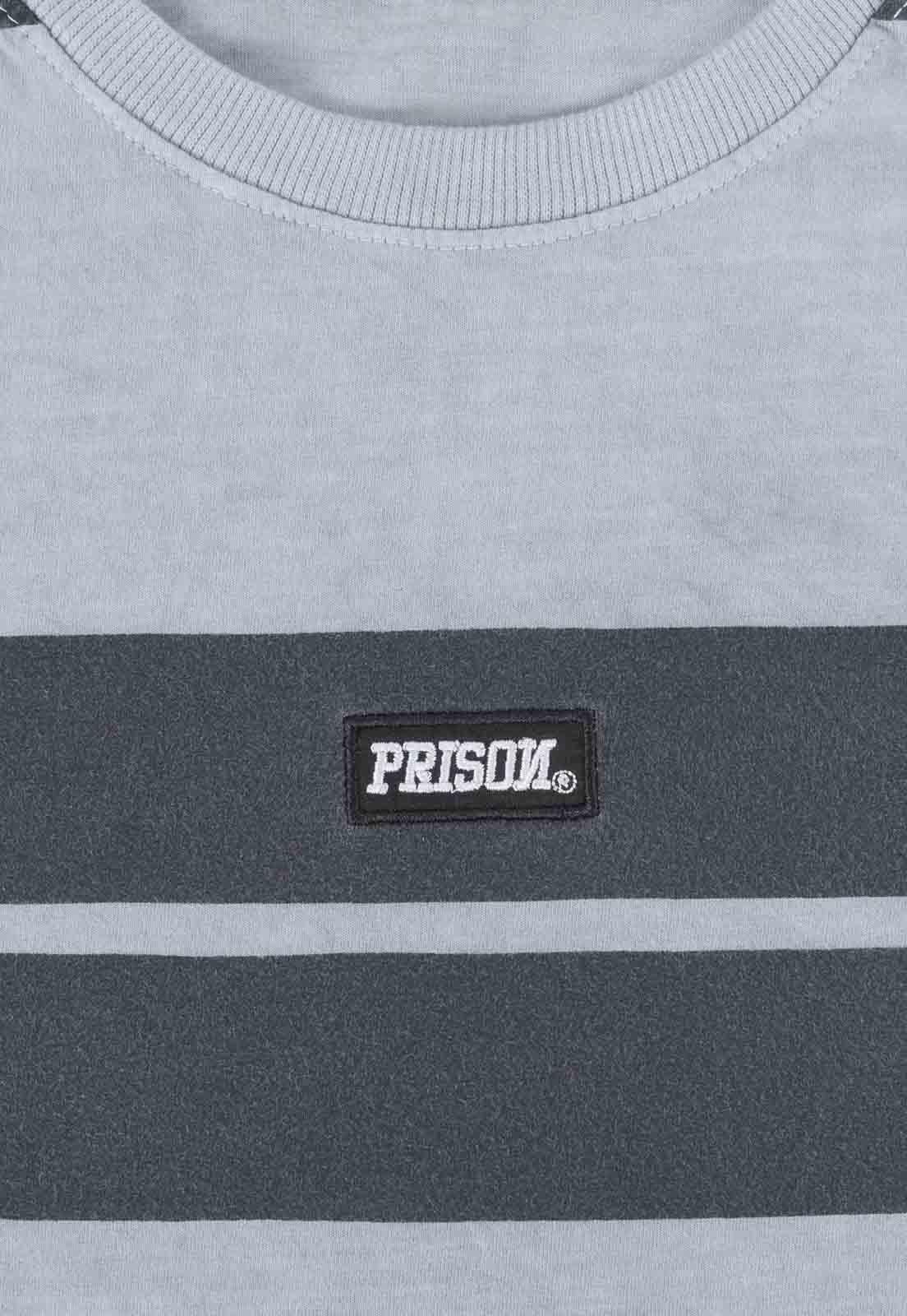 Camiseta Prison Listrada Gray Retro