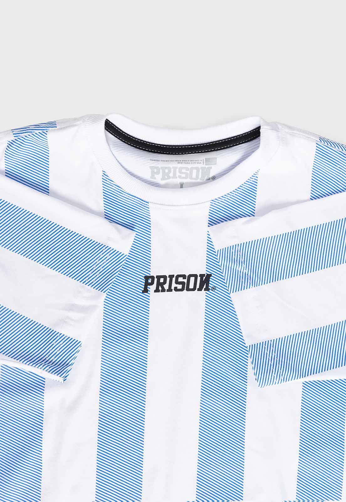 Camiseta Prison Listrada Long Blue