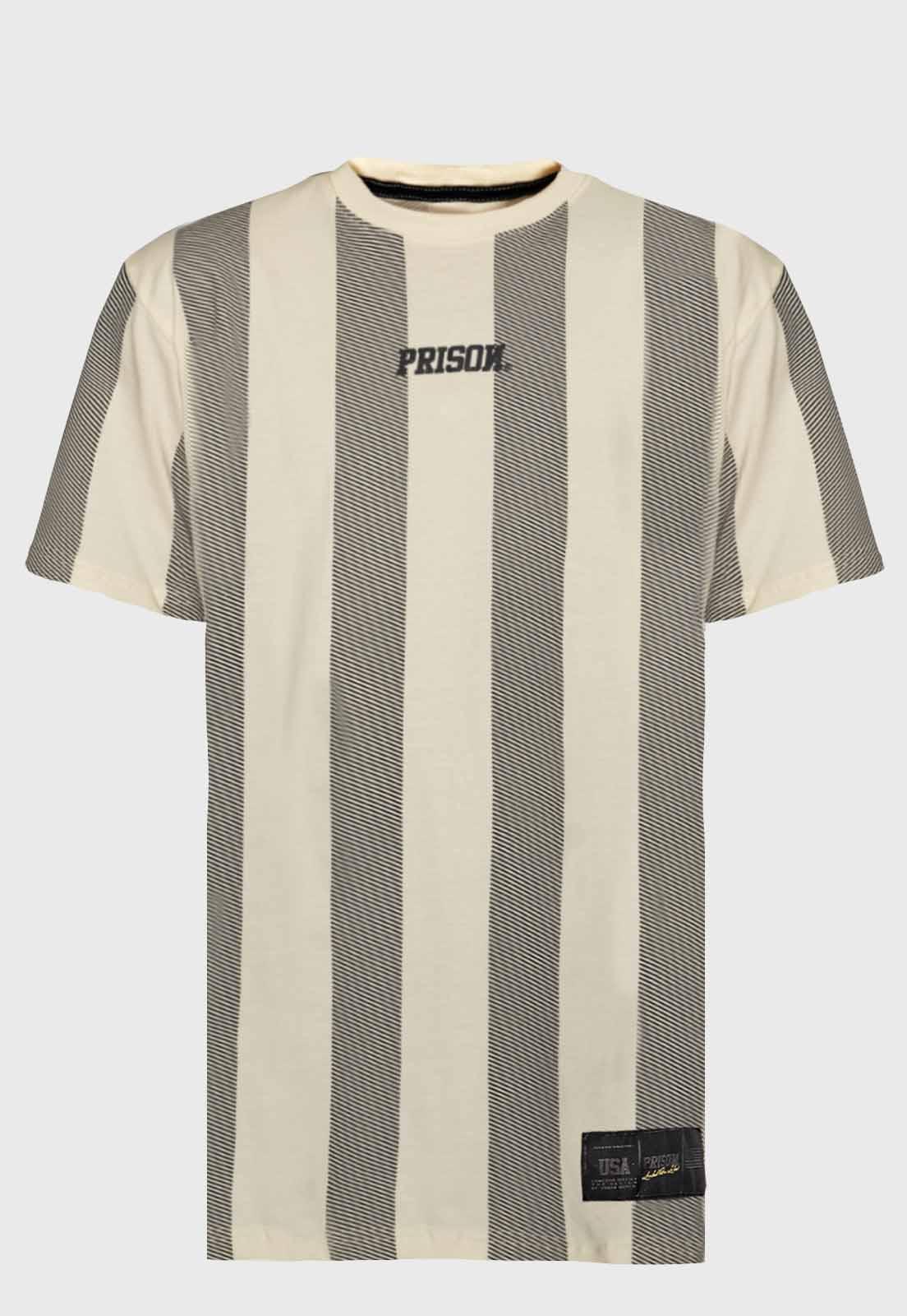 Camiseta Prison Listrada Long Off-White
