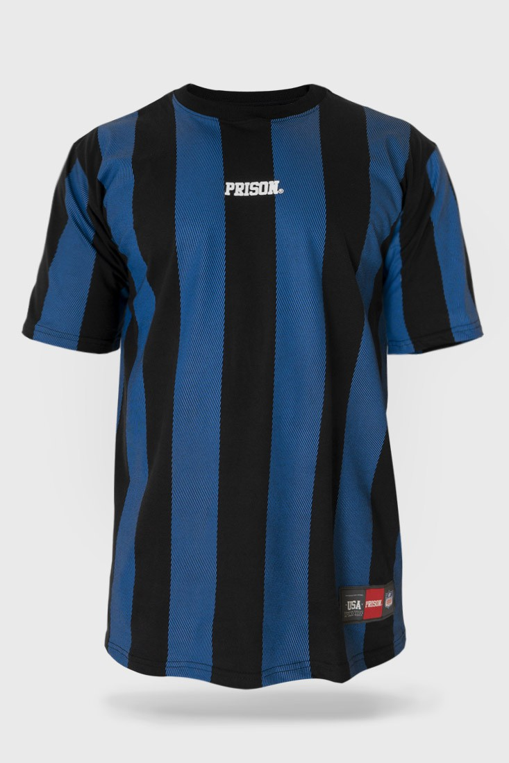 Camiseta Prison Listrada Long Stripes Blue
