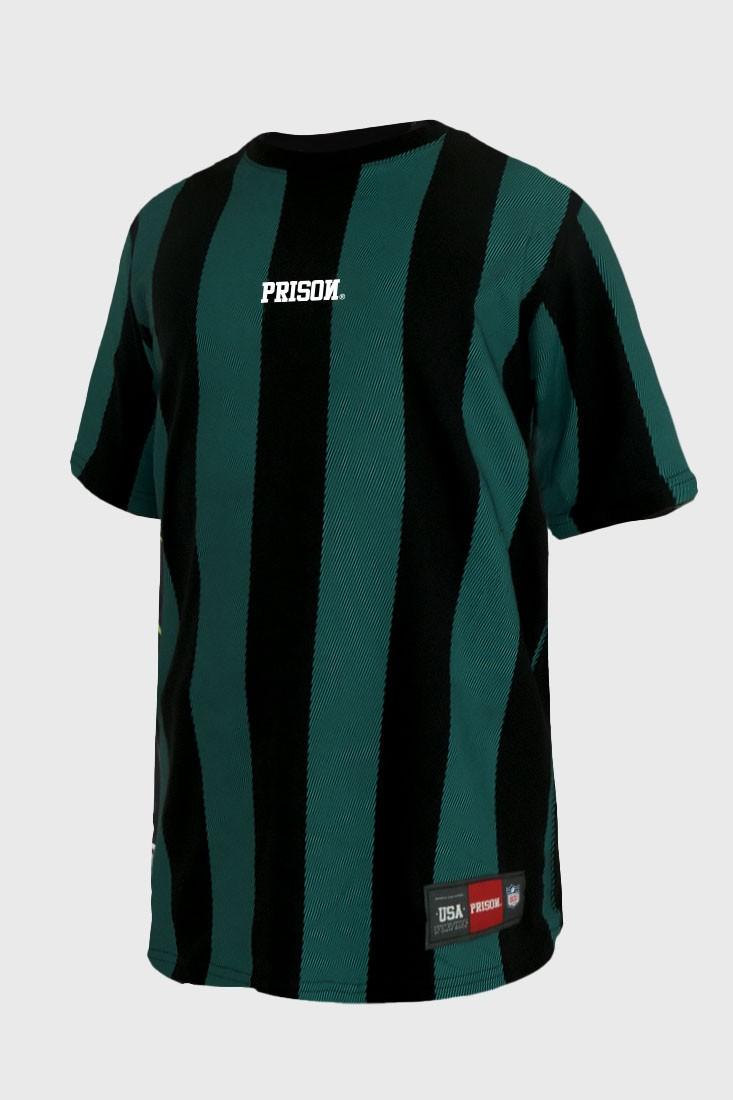 Camiseta Prison Listrada Long Stripes Green