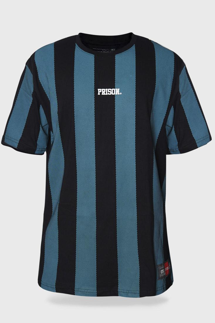 Camiseta Prison Listrada Long Stripes Turquesa