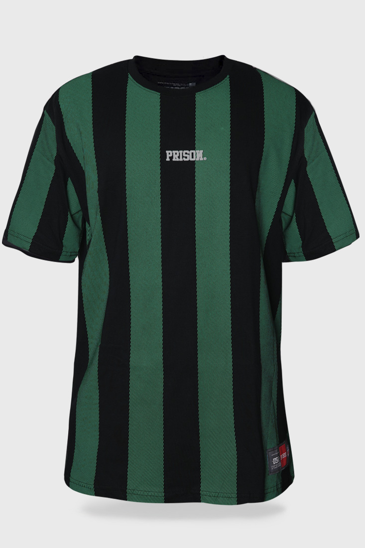 Camiseta Prison Listrada Long Stripes Verde