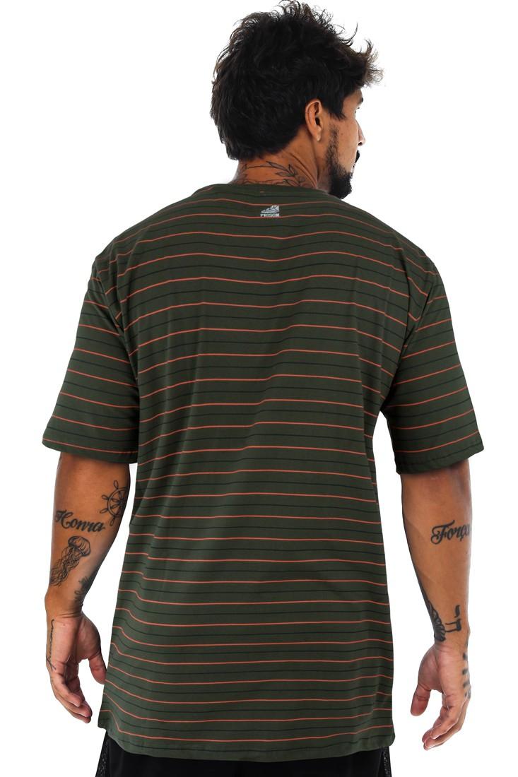 Camiseta Prison Listrada Sliver Verde