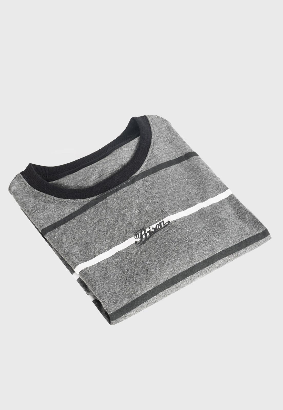 Camiseta Prison Listrada Street Cinza
