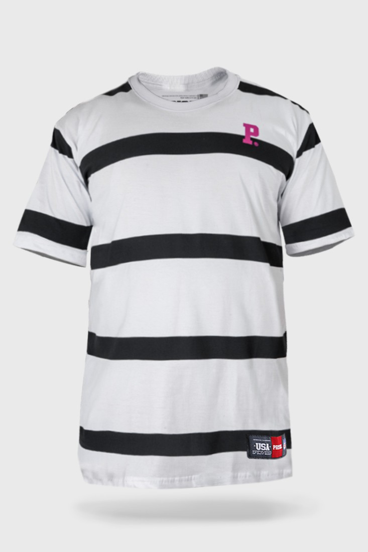 Camiseta Prison Listrada Striped Midnight Street