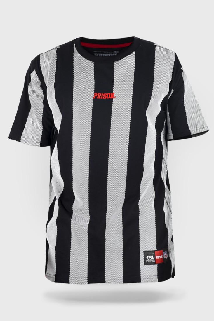 Camiseta Prison Listrada Vertical Long Stripes