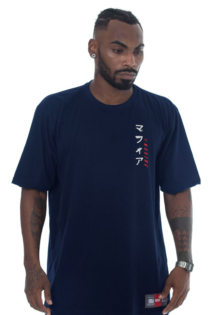 Camiseta Prison Long Line Japan Azul