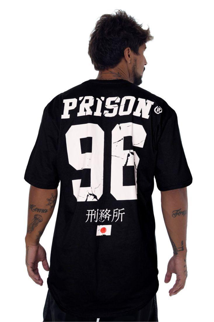 Camiseta Prison Longline Nihon 96 Preta