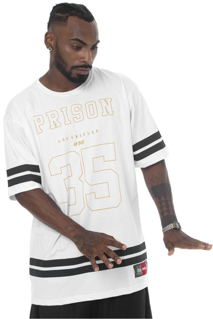 Camiseta Prison Los Angeles Branca