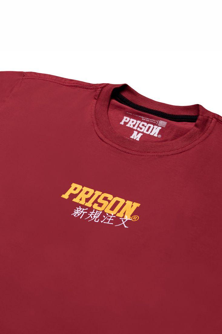 Camiseta Prison Low Japan Vinho