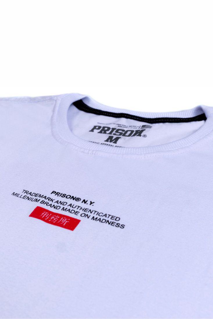 Camiseta Prison Made on Madness Branca