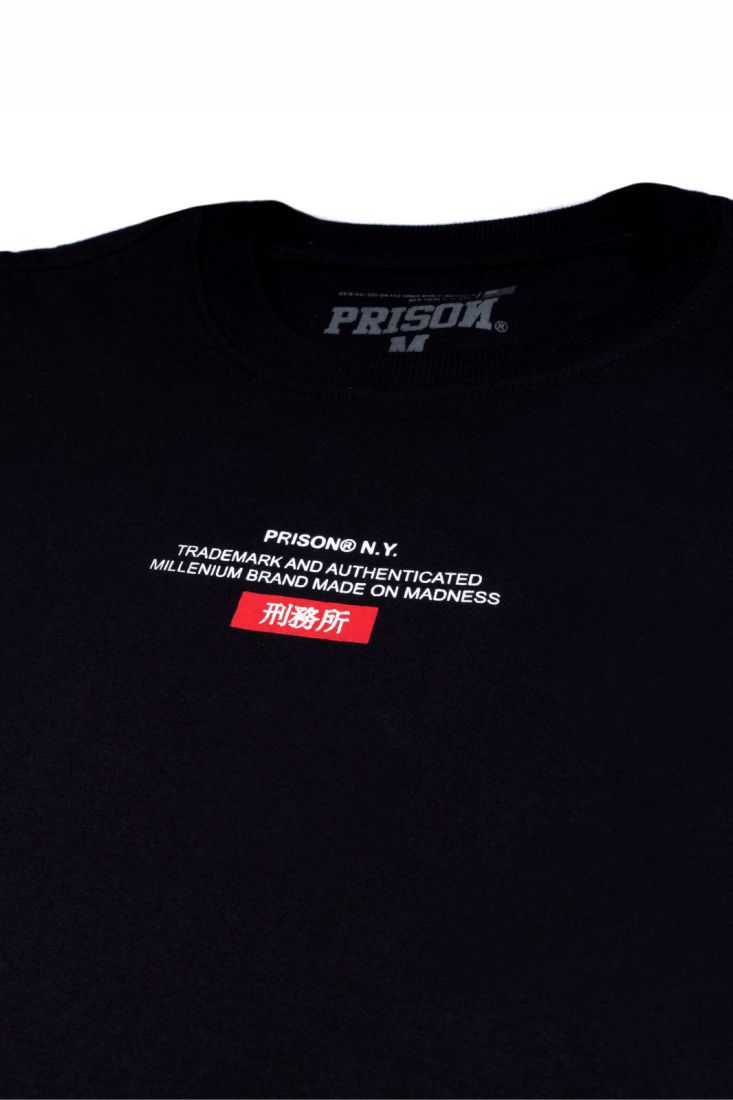 Camiseta Prison Made on Madness Preta