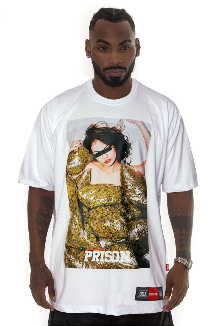 Camiseta Prison Marijuana Pool Branca