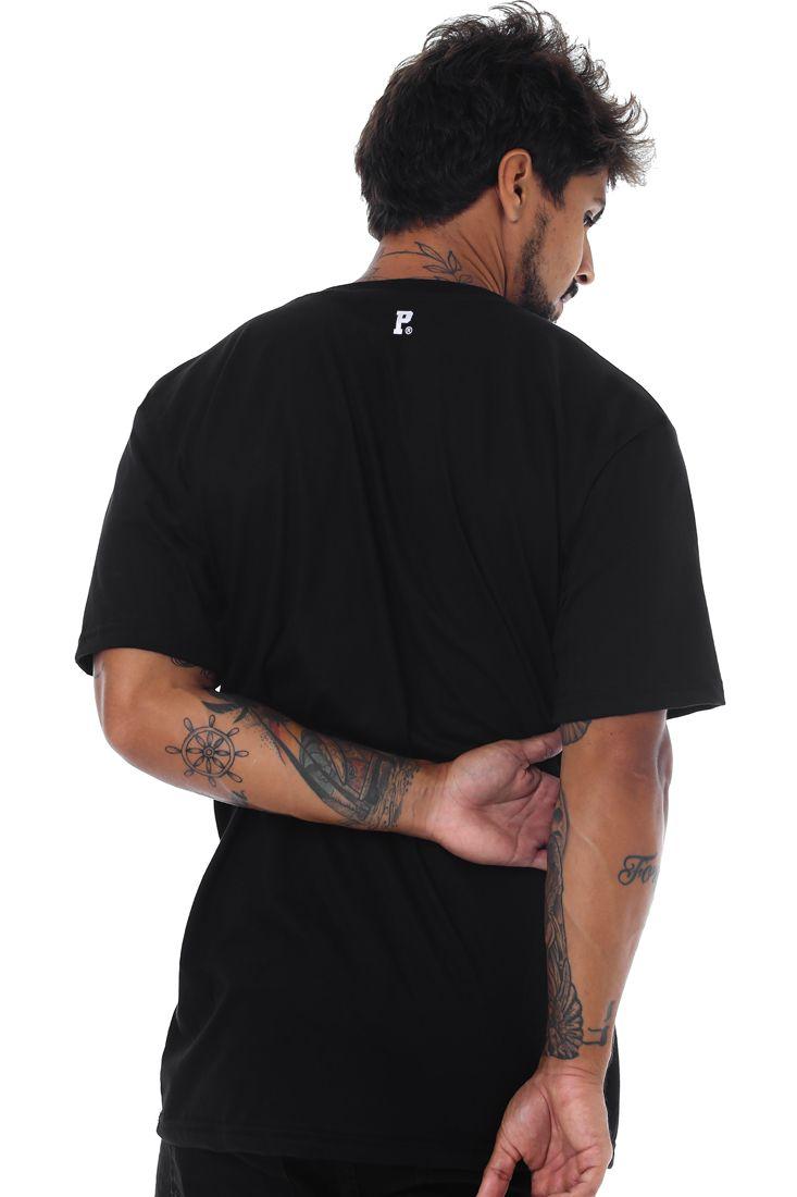 Camiseta Prison Middle Line Preta