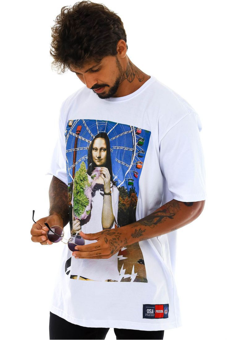 Camiseta Prison Monaliza Code Branca