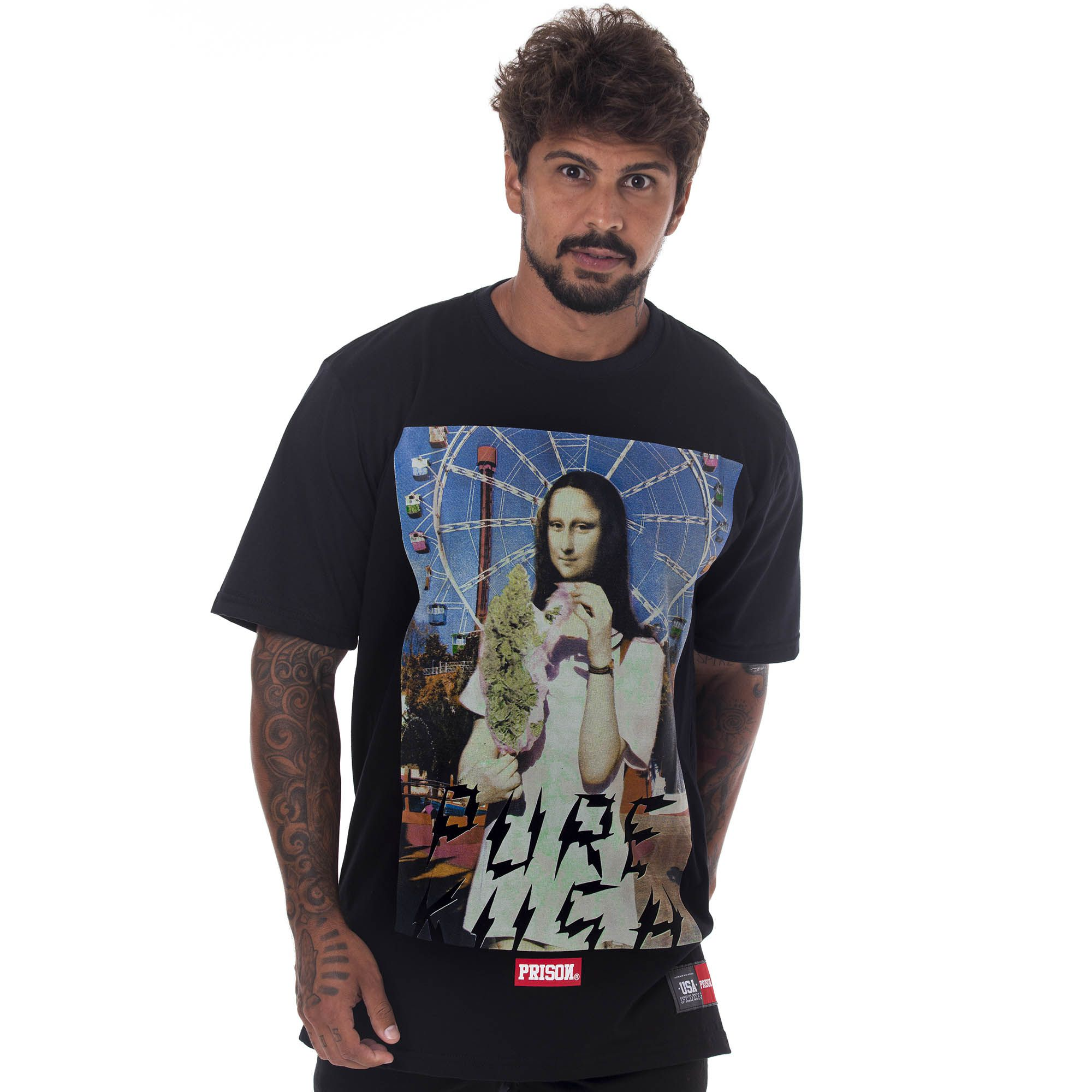 Camiseta Prison Monaliza Code Preto