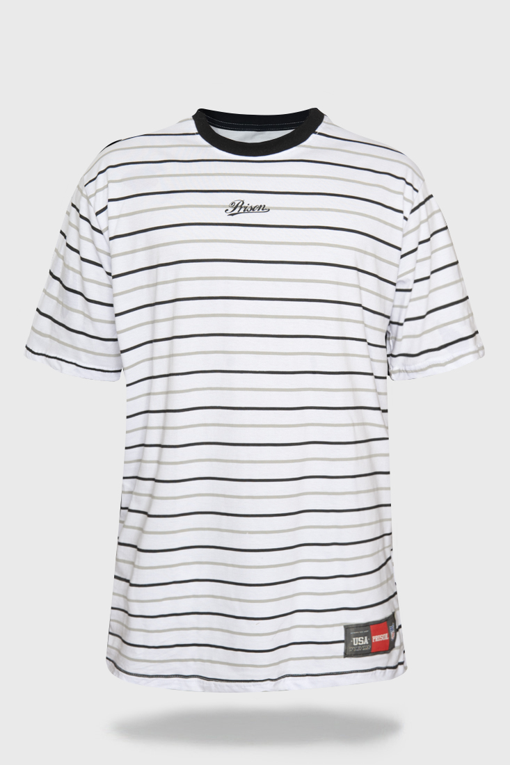 Camiseta Prison Monocromatic Stripes