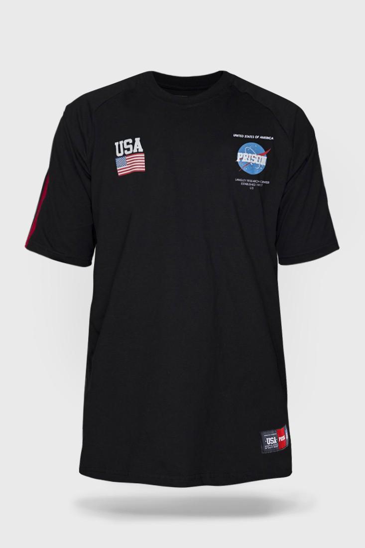 Camiseta Prison NASA Preta