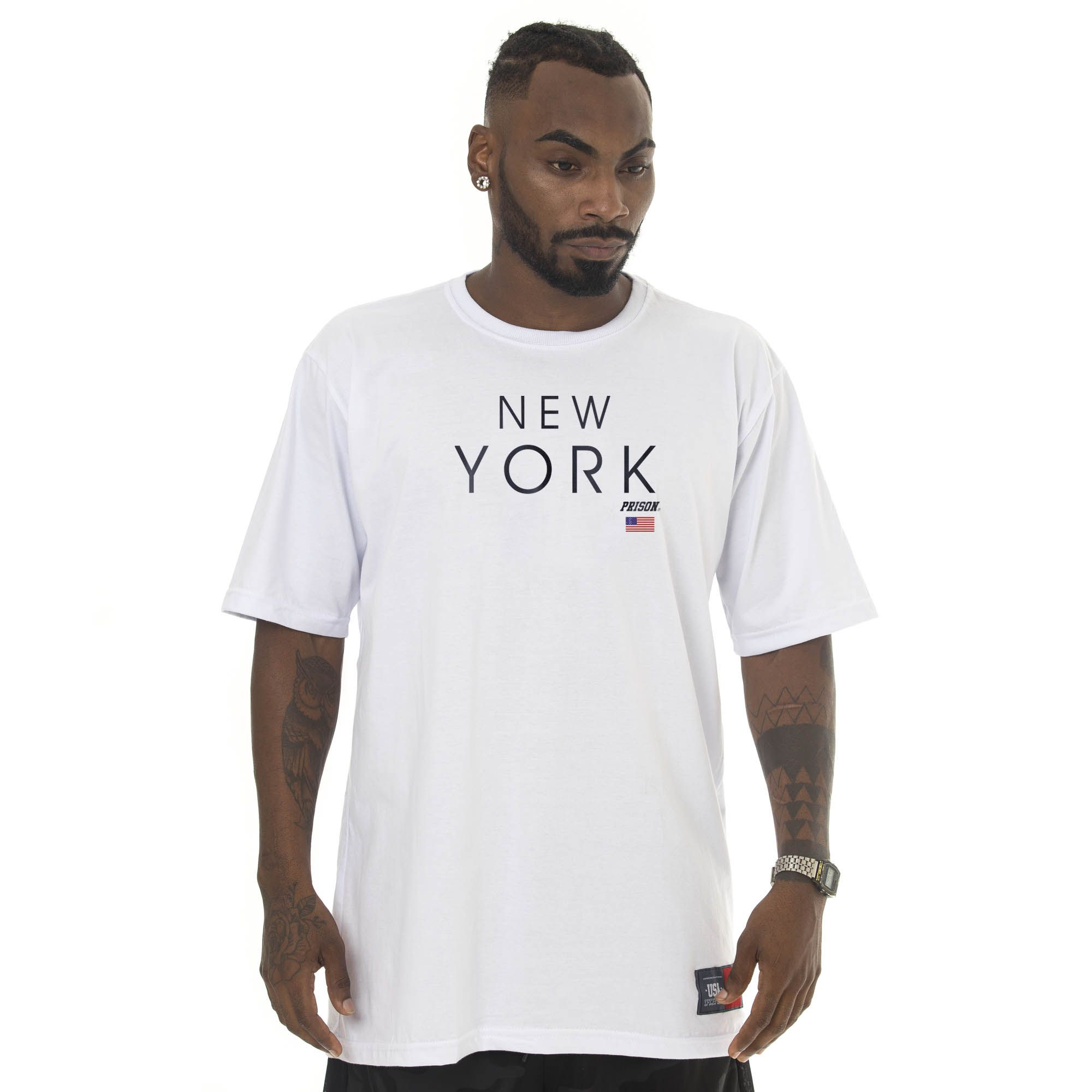 Camiseta Prison New York Branca