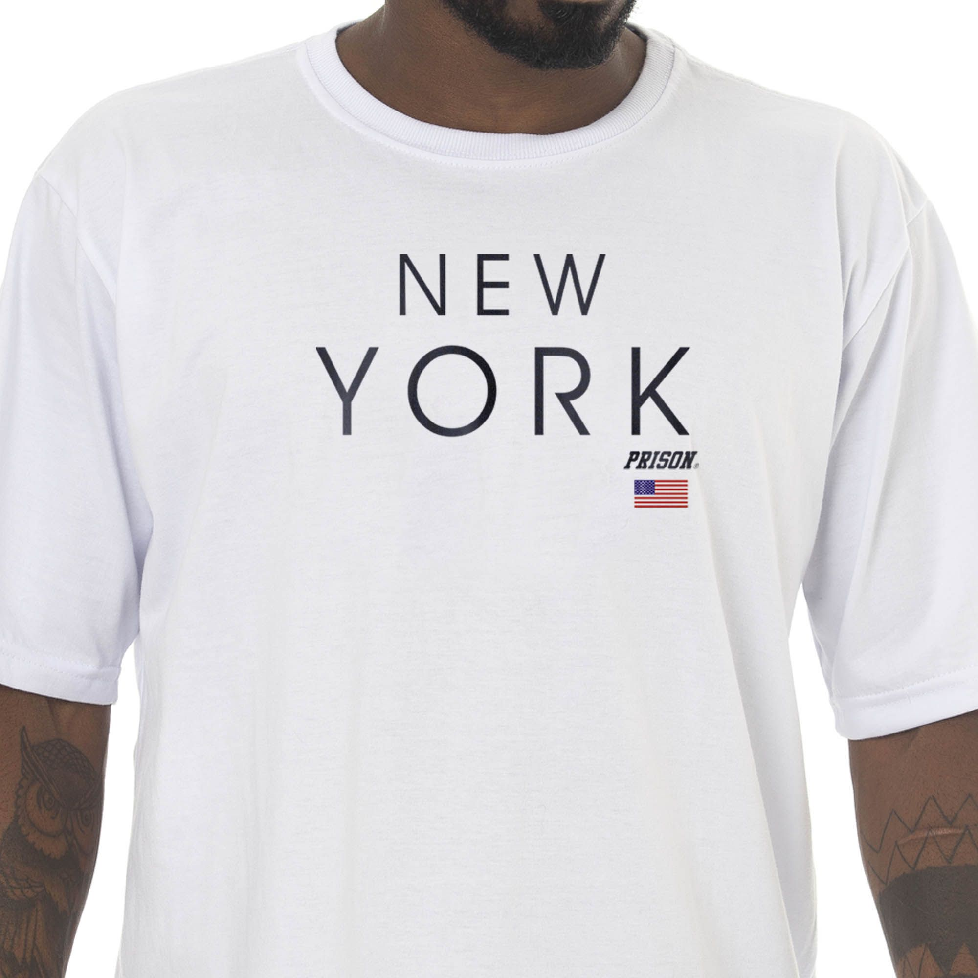 Camiseta Prison New York Branca