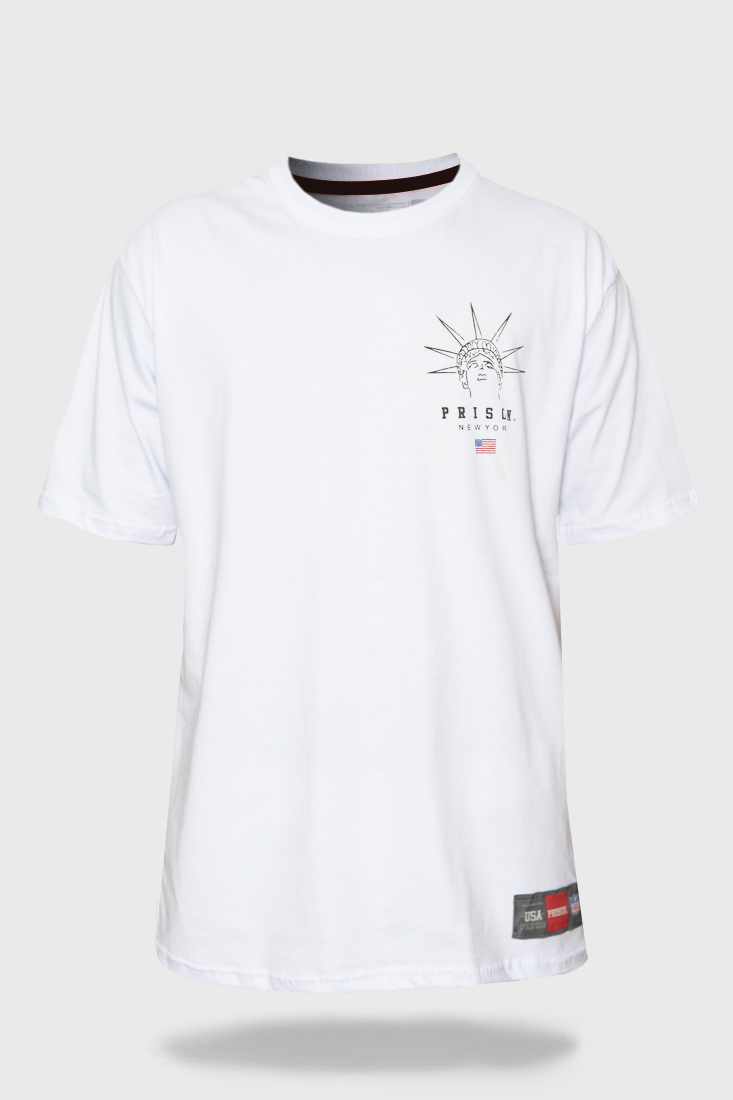 Camiseta Prison New York Liberty Branca