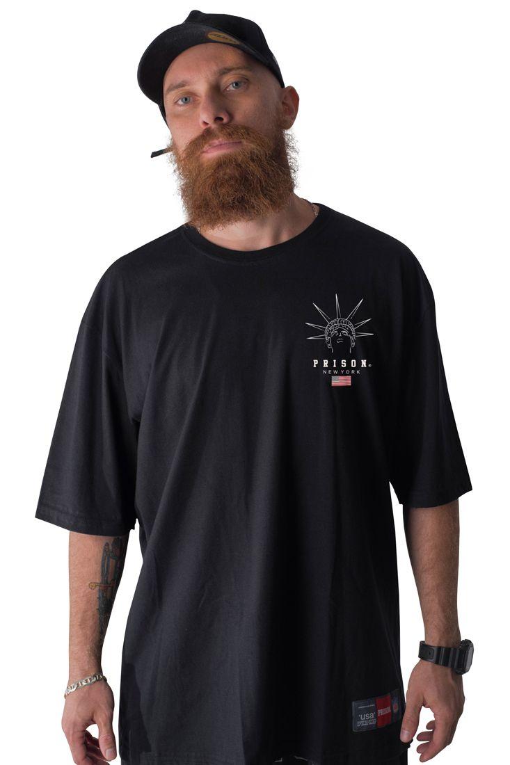 Camiseta Prison New York Liberty Preta