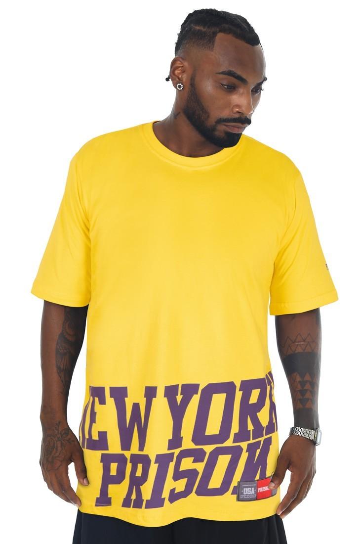 Camiseta Prison New York Low Amarela