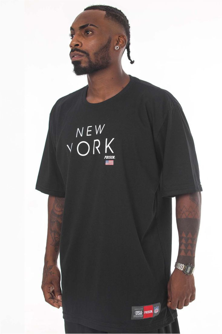 Camiseta Prison New York Preta