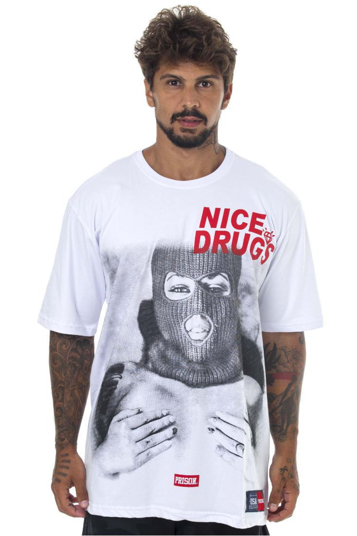 Camiseta Prison Nice D Branca