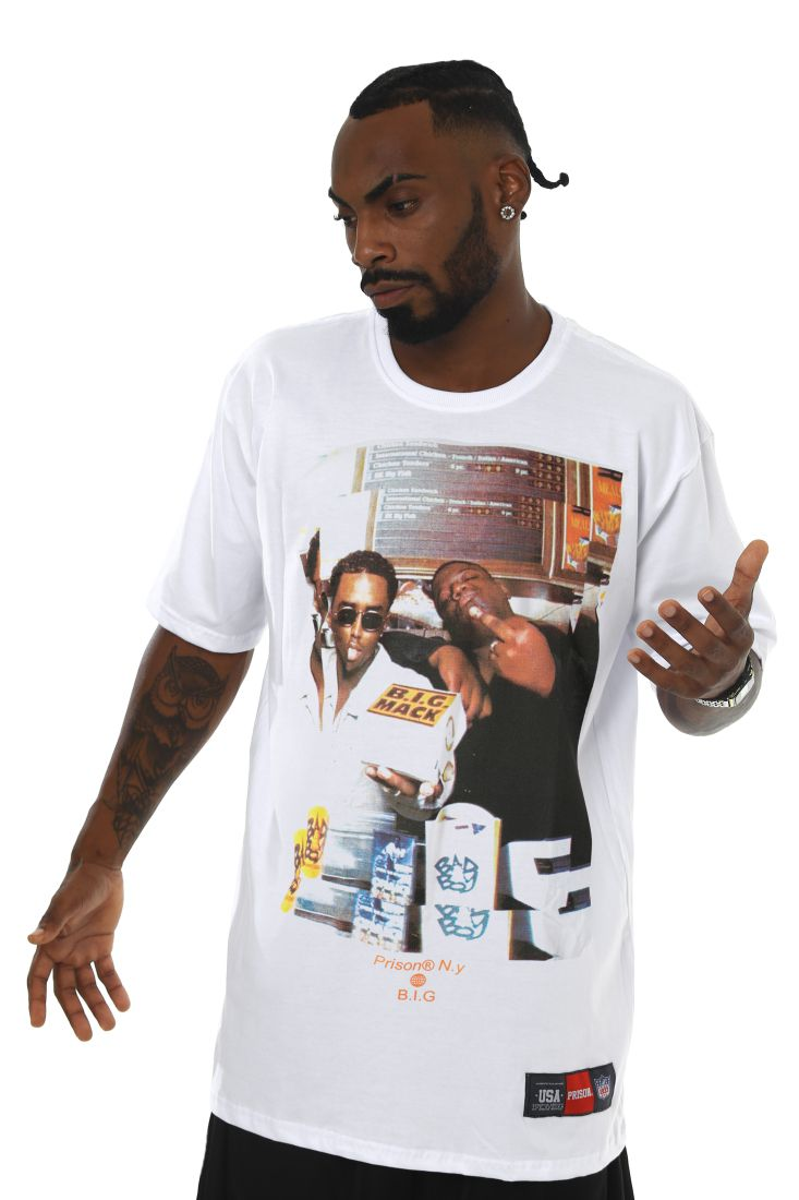 Camiseta Prison Notorious Big  Juicy Branca